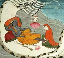 Vishnu & Lakshmi by Zehda