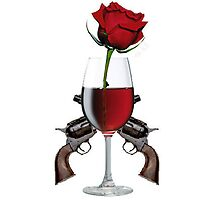 Rose wine and guns by Norwen