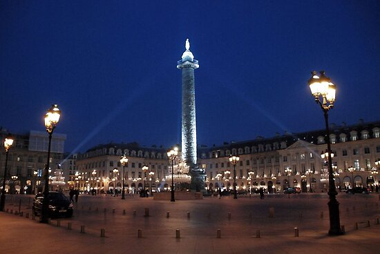Paris - Place Vendôme. by Jean-Luc Rollier