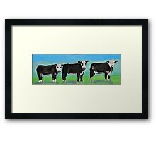 Watching Cows Framed Print