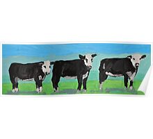 Watching Cows Poster