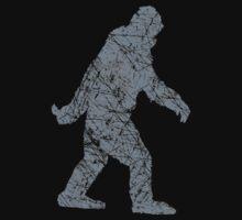 Gone Squatchin in Grunge Distressed Style by Garaga