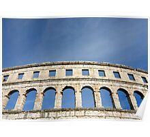 Roman Amphitheater in Pula (Croatia)  Poster
