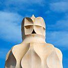 Chimney on Roof of Casa Mila, Barcelona, Spain  by Petr Svarc
