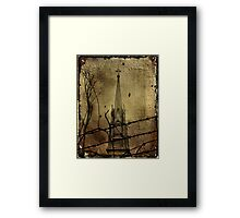 Behind The Barbed-Wire Framed Print