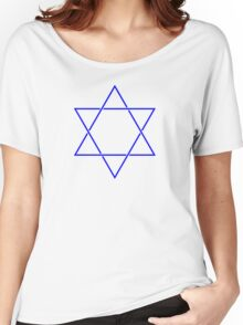 Star of David - blue and fine Women's Relaxed Fit T-Shirt
