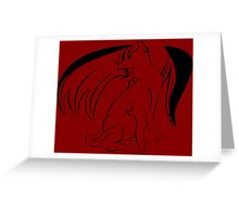 Cats are like tiny fuzzy dragons. Greeting Card