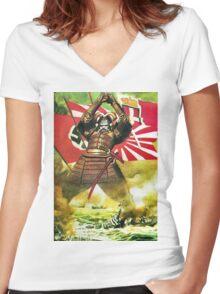 Japanese Propaganda Poster : WW2 World War 2 : WWII  Women's Fitted V-Neck T-Shirt