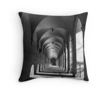 Corridor of Light & Shadows Throw Pillow
