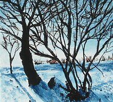 Wintery scene by Beata Belanszky Demko