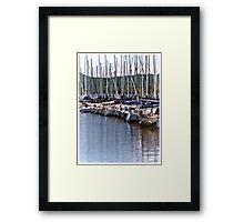 Lake City Marina Framed Print