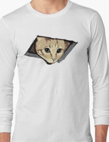 Ceiling Cat Watches You, LOLCat Favorite Long Sleeve T-Shirt