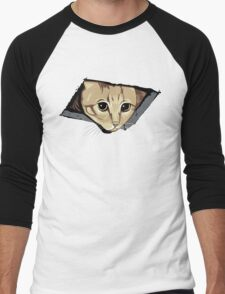 Ceiling Cat Watches You, LOLCat Favorite Men's Baseball ¾ T-Shirt