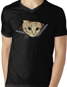 Ceiling Cat Watches You, LOLCat Favorite Mens V-Neck T-Shirt