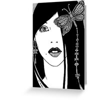 Butterfly Girl Greeting Card