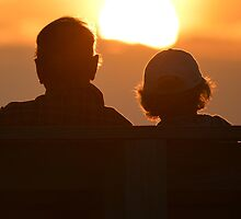 An Elderly Couple Watching The Sunset Together | Mt. Sinai, New York  by © Sophie W. Smith