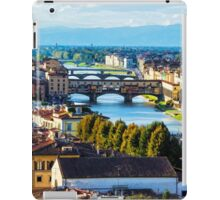 Impressions Of Florence - Arno River And The Bridges From Above iPad Case/Skin