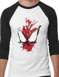 Spiderman Splatter Men's Baseball ¾ T-Shirt