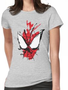 Spiderman Splatter Womens Fitted T-Shirt