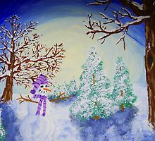 Moonlit Snowman by Tori Snow