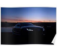 Audi A5 at Dusk Poster