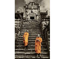 Buddhist Monks at Angkor Wat - Cambodia Photographic Print