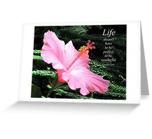 Pink Hybiscus Greeting Card