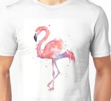 Pink Flamingo Watercolor Illustration Unisex T-Shirt