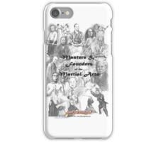 Masters and Founders of Martial Arts calendar iPhone Case/Skin