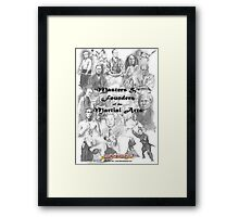 Masters and Founders of Martial Arts calendar Framed Print