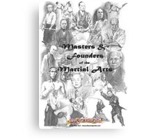 Masters and Founders of Martial Arts calendar Canvas Print