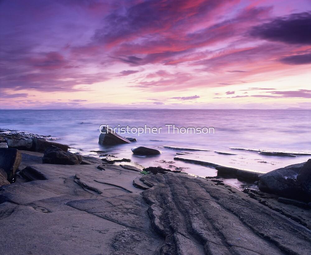 Crimson Sunset - Hopeman, Moray by Christopher Thomson