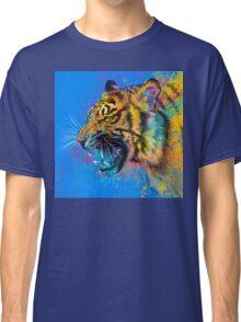 Roaring Tiger Colorful Illustration Wild Animal Classic T-Shirt