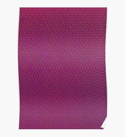 Silicon Atoms Purple  Poster