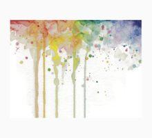 Watercolor Rainbow One Piece - Short Sleeve
