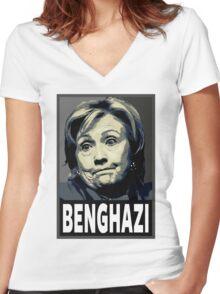 Benghazi Women's Fitted V-Neck T-Shirt