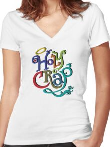 Holy Crap - colors Women's Fitted V-Neck T-Shirt