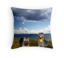 Mischa & Shady get a Day  Out Throw Pillow