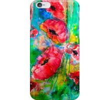 Poppies by Karen Veal iPhone Case/Skin
