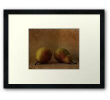 vintage pears Framed Print