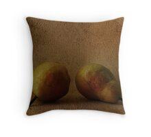 vintage pears Throw Pillow