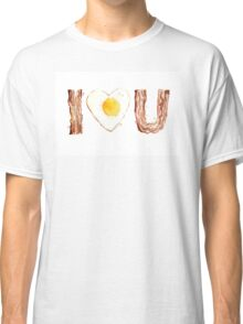 I Love Bacon and Egg Whimsical Watercolor Illustration Classic T-Shirt
