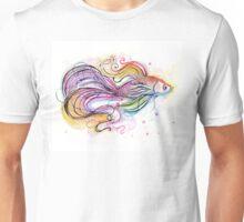 Beautiful Betta Fish Illustration Unisex T-Shirt