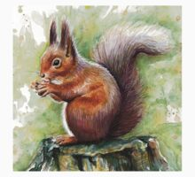 Squirrel Watercolor Kids Clothes