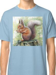 Squirrel Watercolor Painting, Forrest Animal Classic T-Shirt