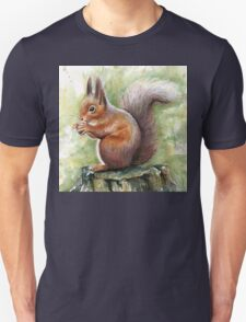 Squirrel Watercolor Painting, Forrest Animal T-Shirt
