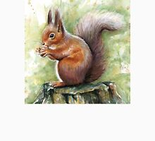 Squirrel Watercolor Painting, Forrest Animal Unisex T-Shirt