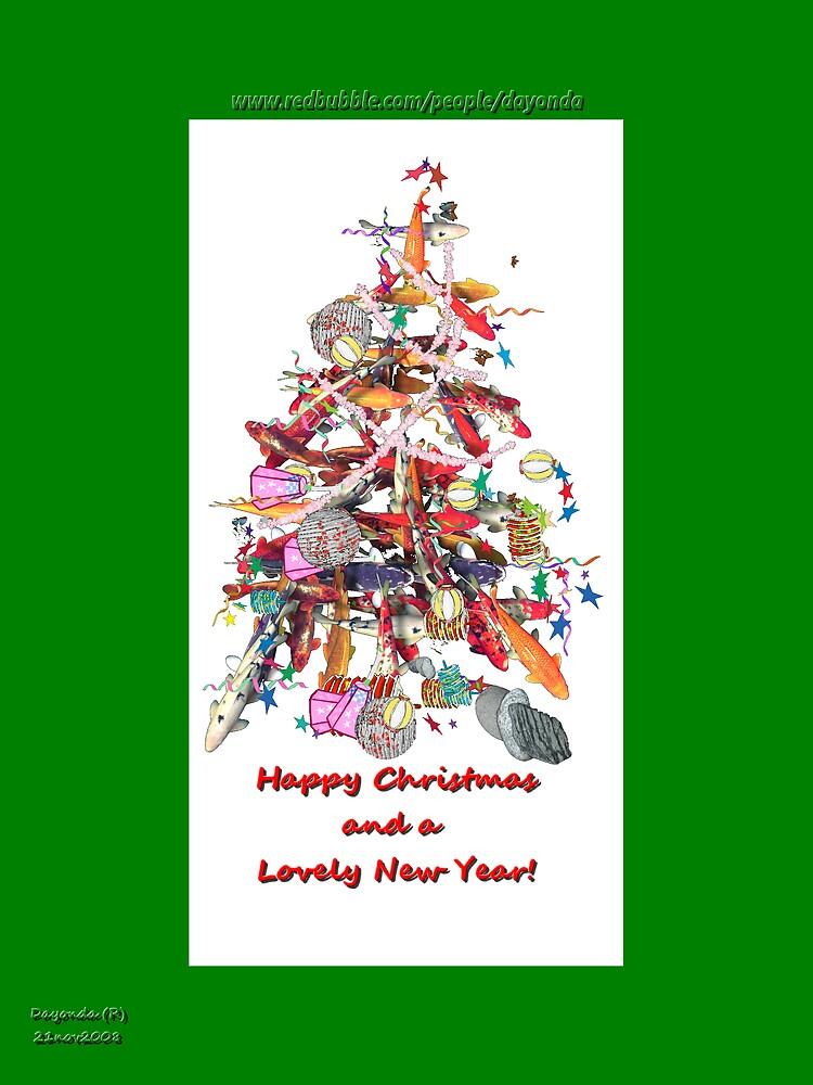 KOI Tree Chirstmas Card  by Dayonda