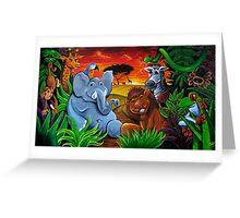 Jungle Mural Greeting Card
