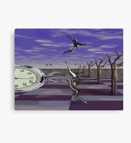 Ballet on time chessboard Canvas Print